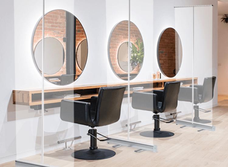 Workstation dividers for salons