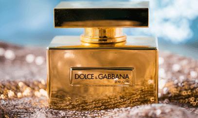 Branded perfume bottle