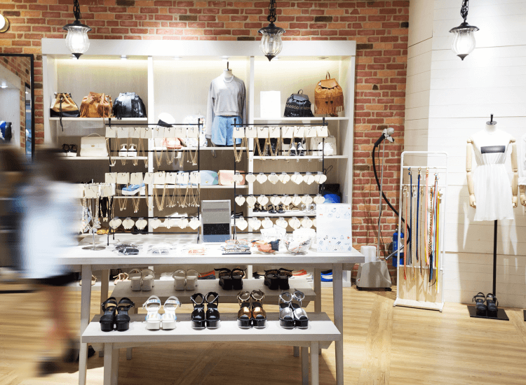 Neat and tidy store interior merchandising displays