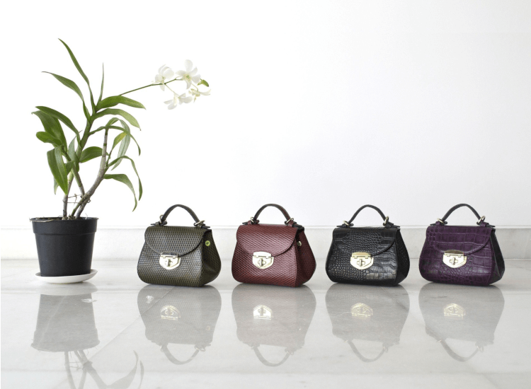 Luxury handbag display